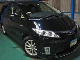 トヨタ エスティマハイブリッド 2.4 G 4WD 全OPプリクラLKAレダクルRエンタWSR革Pビュ
