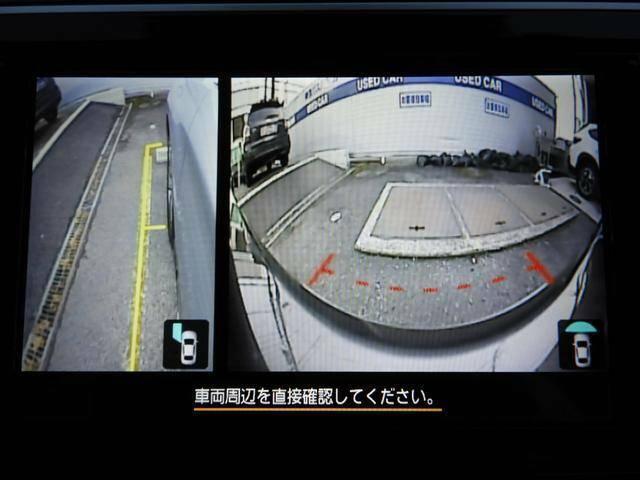 前方と左前方の死角を減らす為に、フロントグリルと左ミラーにカメラがついてます。