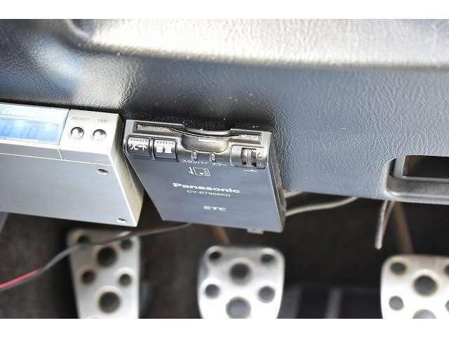 今や必需品のETC装備で、高速道路料金所もスムーズに通過可能となっております。