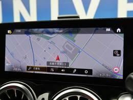 ●メルセデスベンツ純正ナビ:ナビゲーションPKGで装備されるナビゲーションです!高級感のある車内を演出させます!