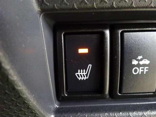 運転席はシートヒーター付なので、寒い日の朝の通勤も快適です♪