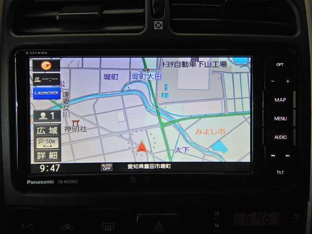 ナビには2018年10月発売のパナソニック製CN-れ05WD(新品)装着!CD/DVD・BT・SD録音・フルセグTVなど多彩なメディアに対応!