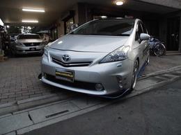 トヨタ プリウスα 1.8 G ツーリングセレクション スカイライトパッケージ デモカー RAYS19インチAW カナード 7人乗り