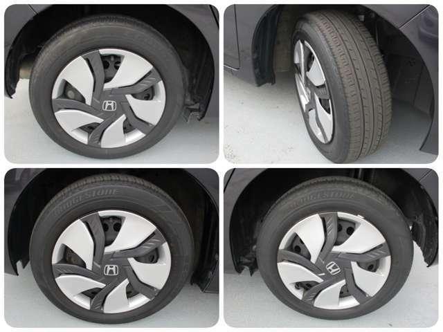 タイヤ分割図です。