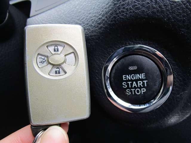 ★キーレスプッシュスタートシステム!鍵はポケットやバックにしまったままでOK!エンジンスタートはボタンひとつ!開錠、施錠もドアハンドルにあるリクエストスイッチで出来るんです★