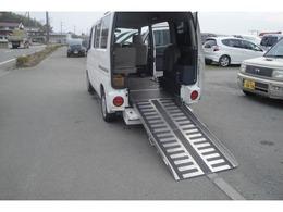 三菱 タウンボックス 障害者輸送車 スローパー 車椅子移動車 4WD