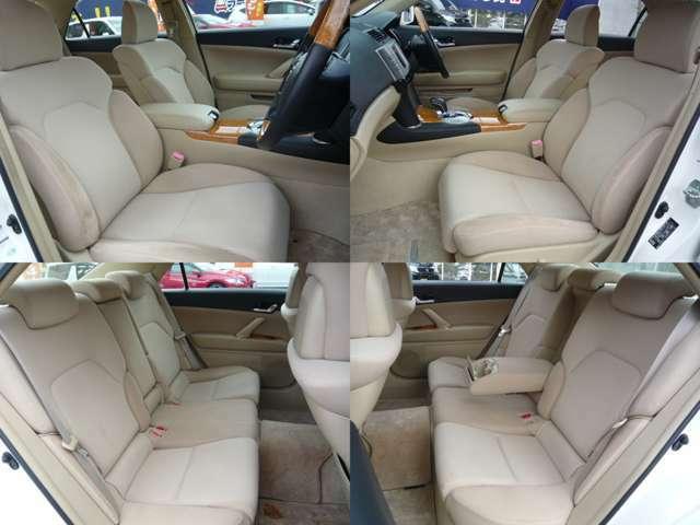 シート4方向画像です。肌触りの良いベージュのモケットシートです☆前席は電動シート付で快適ですよ(^^)v