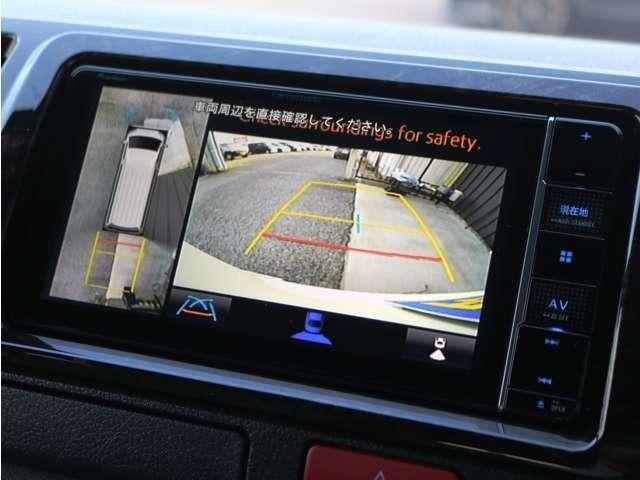 メーカーオプション パノラミックビューモニター!車体を上から見たような映像をナビに映し出します♪