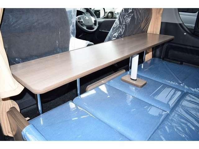 ベッド展開時でもテーブルをご使用頂くことが可能です!