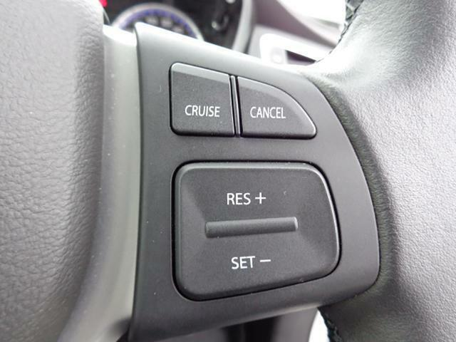 クルーズコントロールシステム搭載!あらかじめ設定しておけば、アクセル操作なしでも車が自動でスピードを一定に保ってくれます!