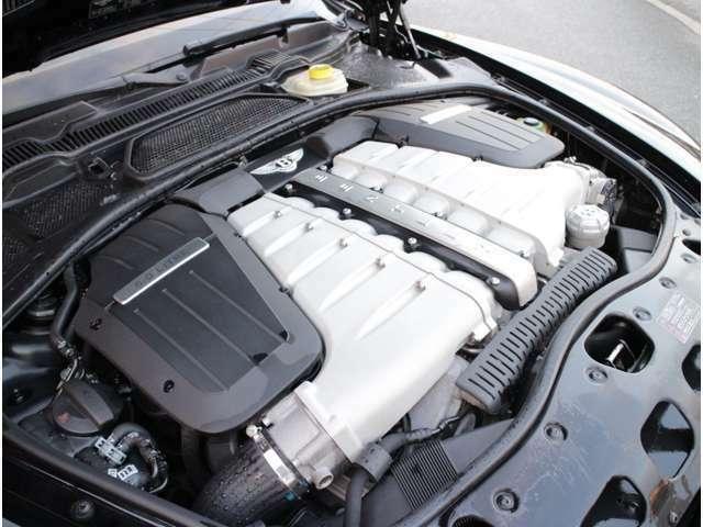 560馬力のパワーと66.3kgmのトルクを出力する、6L W型12気筒48バルブ+ツインターボエンジンを搭載(カタログ値)!