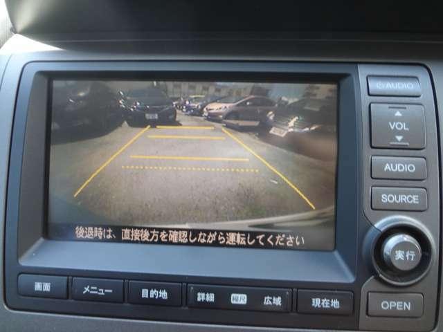 リアカメラつきで、車庫入れの際の安心感が違います。