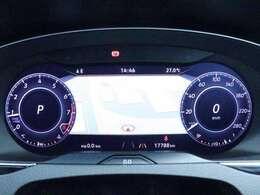 12.3インチ大型ディスプレイによるデジタルメータークラスター付車両です。パネル正面に車両情報やナビゲーションが映し出され目線を変えず目的地まで安心したドライビングが出来ます。