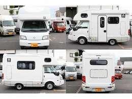 H22 AtoZ製アミティ ボンゴトラック 4WD AT 乗車定員7名就寝目安6名 車両寸法464cm×201cm×275cm SDナビ ワンセグ ETC バックカメラ ドラレコ キーレス