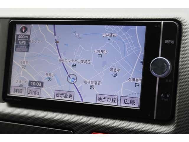 純正SDナビゲーション(NSZT-W62G)が装備されています。DVDビデオ+フルセグTVの視聴が可能です。Bluetooth対応です。