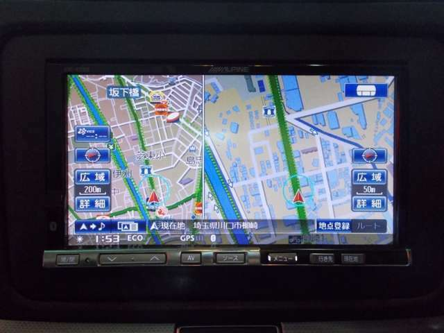 アルパインHDDナビ 地デジフルセグテレビ バックカメラ CD録音 DVD再生 ブルートゥース AUX SD