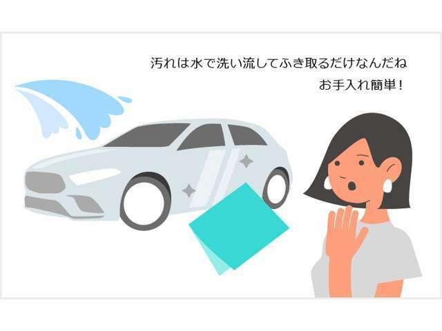 Bプラン画像:ボディコーティングのスタンダード。仕上がりは硬い被膜とシャープな艶感。防汚性能で簡易な洗車で汚れがさっと落ちるので洗車も楽々。走行中の小さな飛散物による傷や、汚れによる傷も付きにくい耐傷性能も。