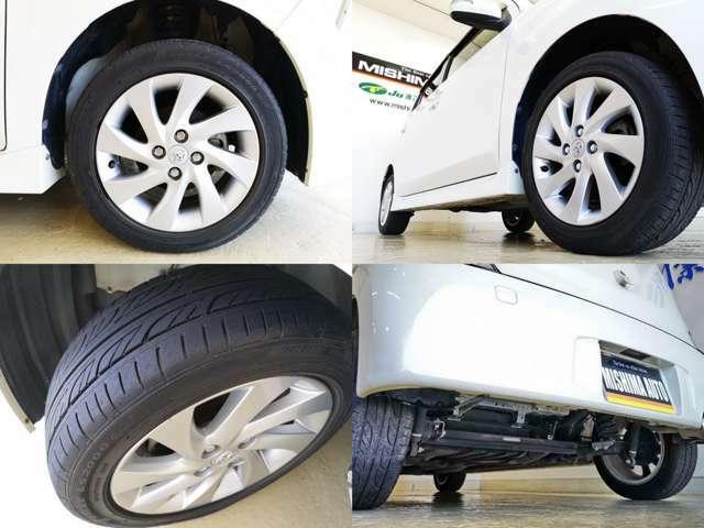 タイヤの山もバッチリ サイズも次回タイヤ交換時に経済的なサイズですね、下回りの状態も良いですよ