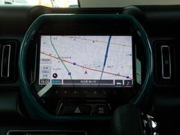 全方位モニター付メモリーナビゲーションは9インチの高画質ディスプレイでとても見やすいです☆運転席からも助手席からも見やすく操作もしやすいんです☆AppleCarPlayやandroidAutoにも対応