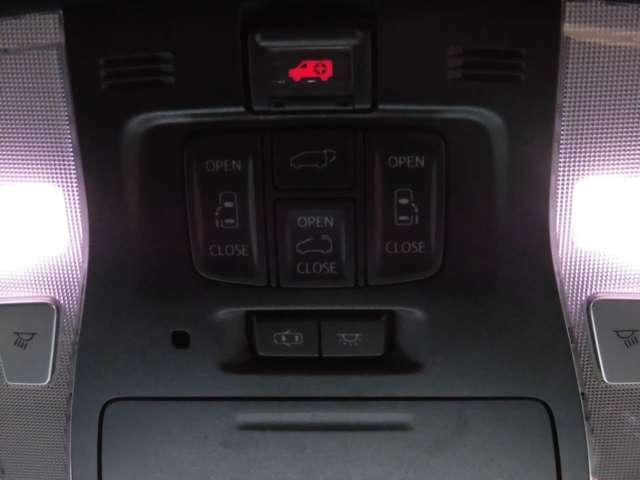 便利な両側電動スライドドア装備!パワーバックドア、ムーンルーフの操作も簡単にできます!