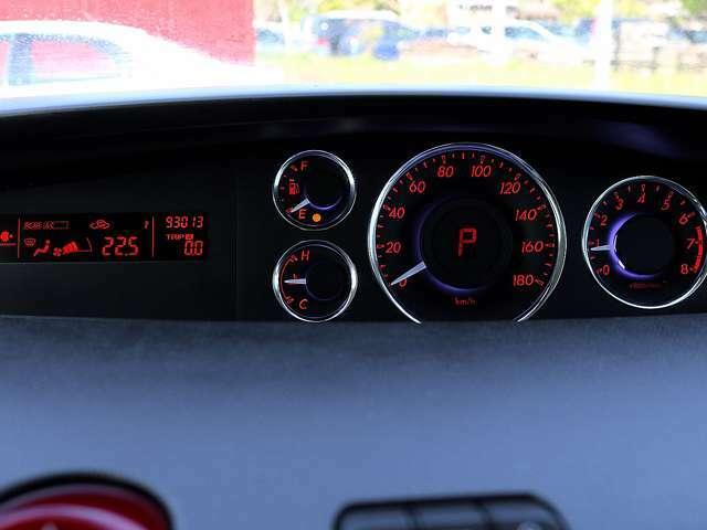 【メーター】現在の走行距離93,013kmでございます。