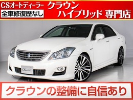トヨタ クラウンハイブリッド 3.5 黒本革/HDDマルチ/フルセグTV/新品20AW
