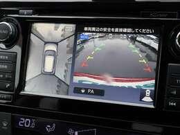 【 MOP アラウンドビューモニター 】上空から見下ろしたような映像をナビ画面に映し出し周囲の状況を確認しながらの走行、駐車が可能となっております!