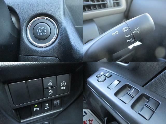 ボタン1つでエンジンを始動【キーレスプッシュスタート】!イモビライザーも標準装備です。各機能のスイッチは運転席から操作ラクラク。