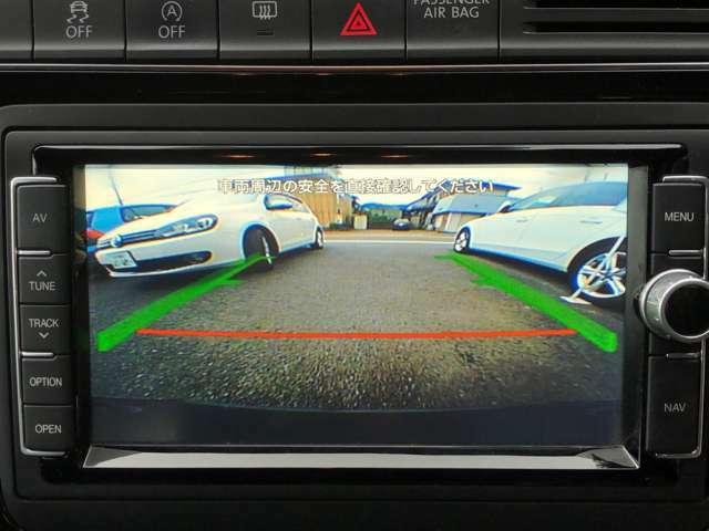 車庫入れに便利バックカメラ装備です