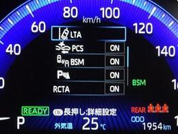 安心装備・トヨタセーフティセンスを装備しています。