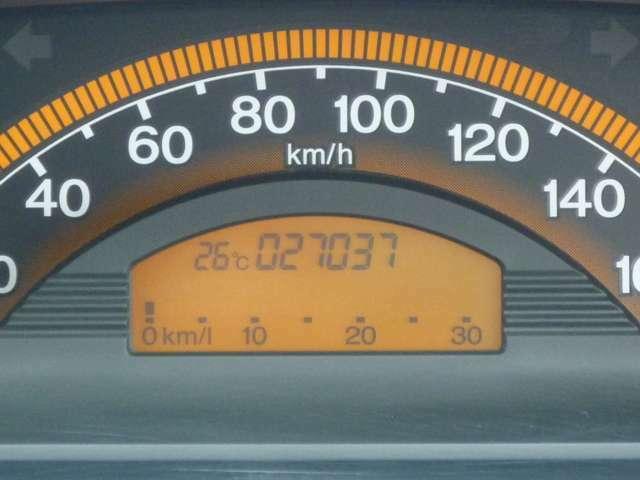走行キロ数は27,037km少走行です