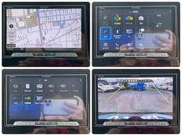 大きな画面で操作もしやすい社外ナビ!機能も充実でバックカメラもついているので駐車時も安心です。