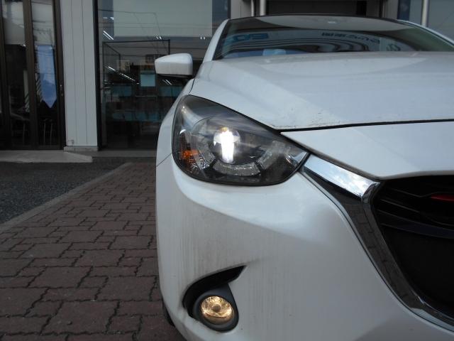 ヘッドランプはハイビーム・ロービームともにLEDを光源とし、明るい白色光で夜間走行時の高い視認性を確保。
