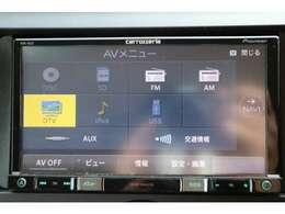 カロッツェリア7型ナビを装備。フルセグTV、ブルートゥース接続、DVD再生可能、音楽の録音も可能です。