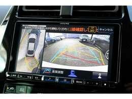 パノラミックビューモニター付きバックカメラで駐車が苦手な方でも周囲確認が楽チンに♪
