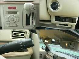 ETC車載器・オートライト・オートエアコン・プッシュスタート・禁煙車。プッシュスタートは、ブレーキを踏みながらスタートボタンをポチッと押すだけでエンジンの始動・停止ができます。