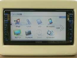 純正メモリーナビ・フルセグ・CD・DVD・ミュージックプレイヤーの接続可能です。