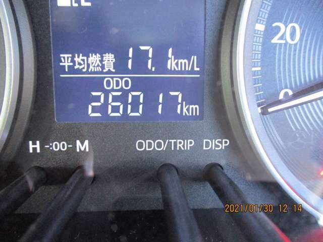 走行距離が26017kmと少なく良質です