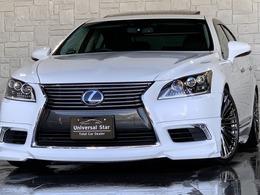 レクサス LSハイブリッド 600h バージョンC Iパッケージ 4WD 新品制作WALDコンプリート/黒本革/SR