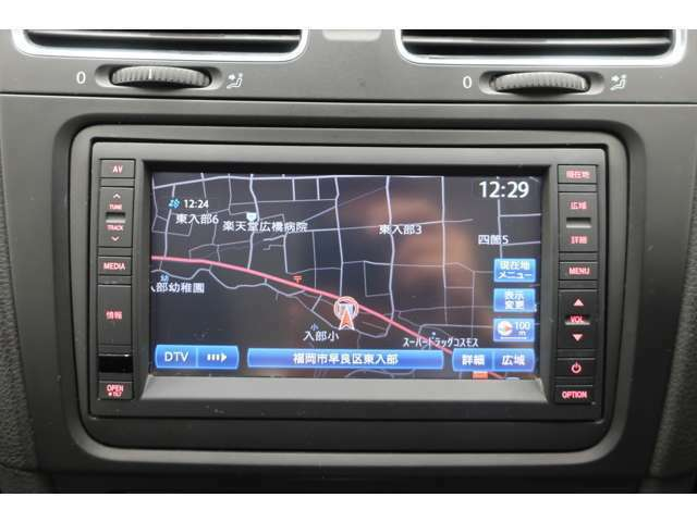 VW純正メモリーナビゲーション:CD/DVD、AM/FM、地デジTV、Bluetooth