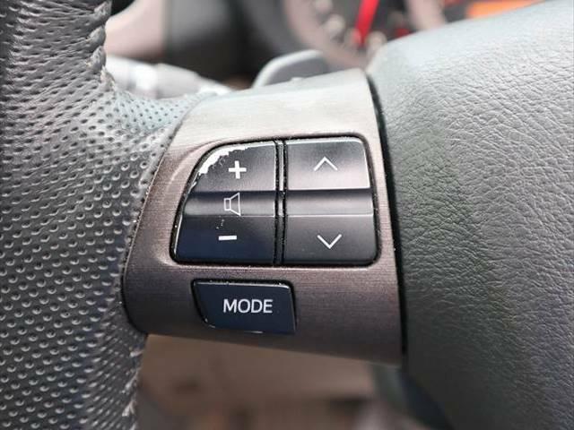 【ステアリングリモコン】走行中ハンドルを離すことなくナビ操作ができます。
