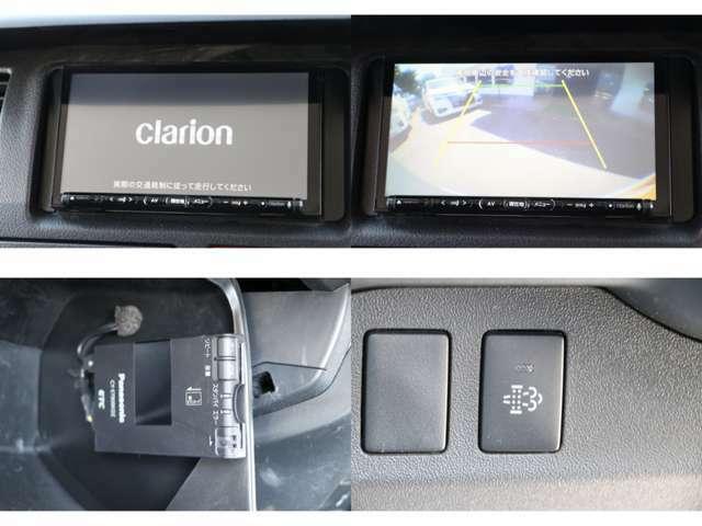 クラリオンナビ フルセグTV DVD・CD・SD再生 Bluetooth・USB接続 Bカメラ ETC DPF 電各ミラー