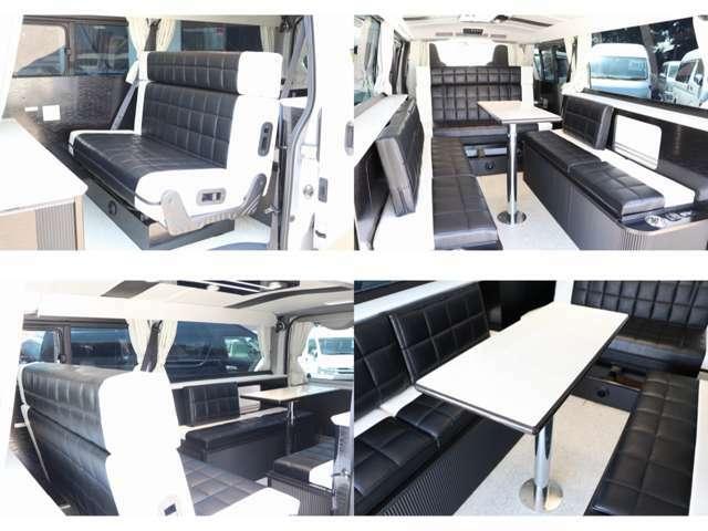 前向き後ろ向きに展開可能なセカンドシート 3点式シートベルト付きでチャイルドシート取り付けも可能!!