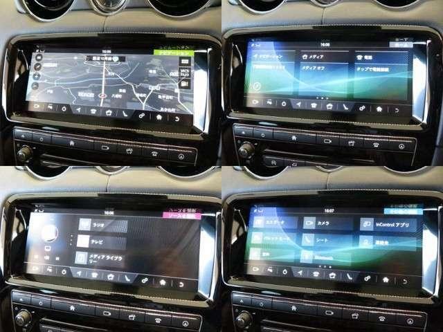 デジタルテレビ内蔵ナビゲーション。Bluetoothなどのメディアにも対応しております。またリアビューカメラも装備し、ガイドラインはステアリングに連動致します。」