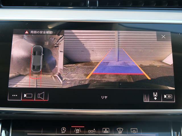 <リヤビューカメラ>MMIディスプレイに車両後方の映像と画像を映し出すことで、駐車操作をサポートします。