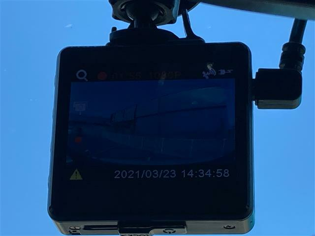 ドライブレコーダーつき!運転中の記録を残し、万が一の事故や煽り運転に備えられます!