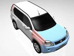 この青いところが板金箇所。赤いところは交換した箇所ね。比較的軽い修復で修復歴はいらないけど、修復はしてるので気を付けて!もち試乗OK!車は静岡支店にあるので、試乗する前日に電話頂戴ね!車もってくるから!