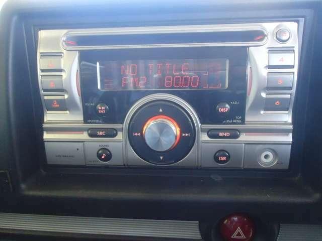 CDコンポ装着車です。お気に入りの音楽もOKです。