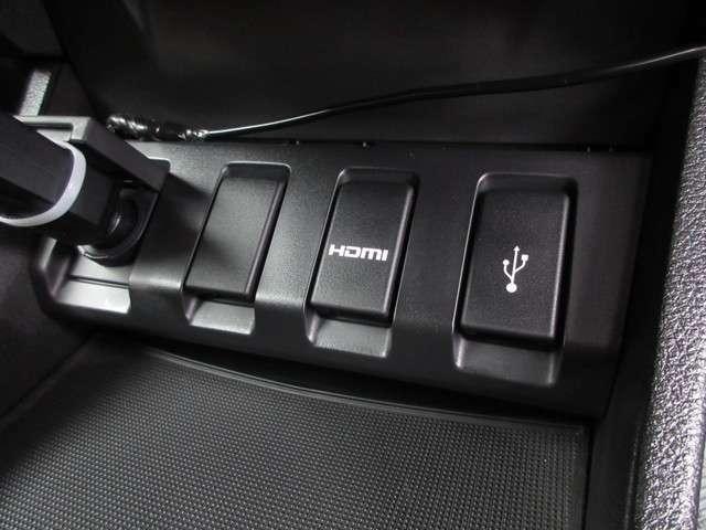USB端子&HDMI端子も装備☆音楽や映像をナビ画面でお楽しみいただけますね◎