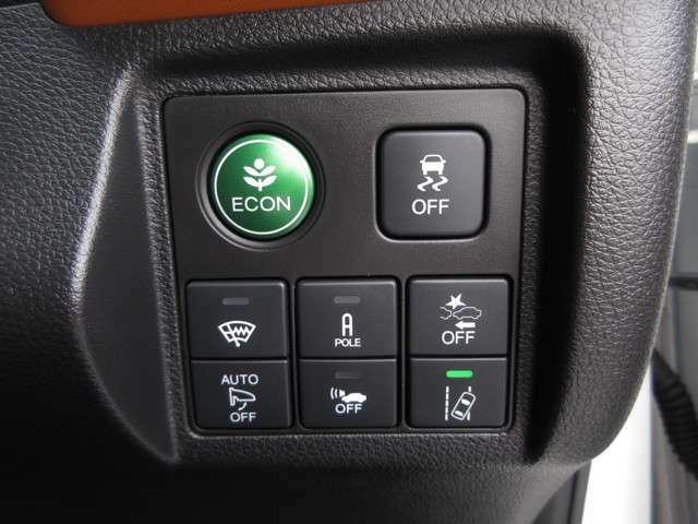 ホンダセンシング搭載!誤発進抑制機能・路外逸脱抑制機能・歩行者事故低減ステアリング・車線維持支援システム・先進車発進お知らせ機能など多彩な先進安全機能でより安全で快適なドライブを支援します。
